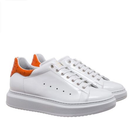 Patent and ostrich leather sneakers 5