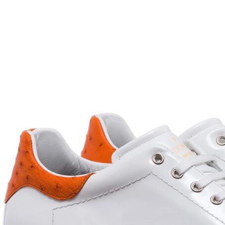 Patent and ostrich leather sneakers 6