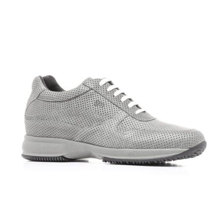 Grey textured sneakers 1