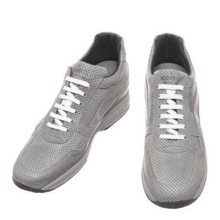 Grey textured sneakers 2
