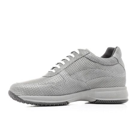 Grey textured sneakers 3
