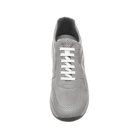 Grey textured sneakers 4