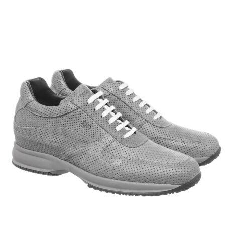 Grey textured sneakers 5