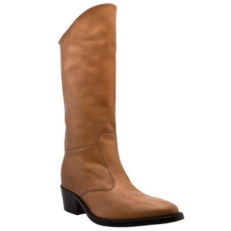 Cognac womens boots 1