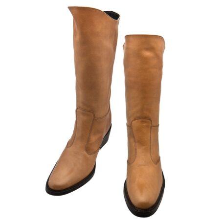 Cognac womens boots 2