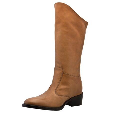Cognac womens boots 3
