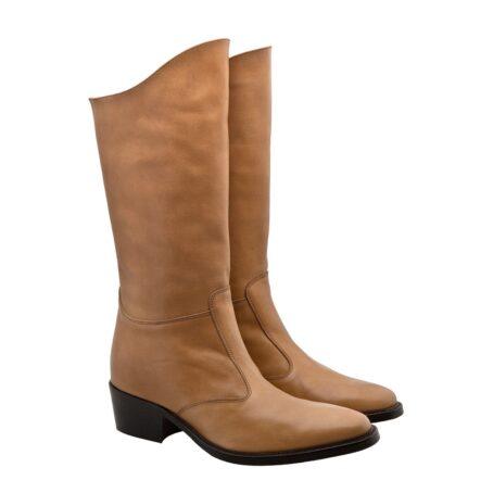 Cognac womens boots 5