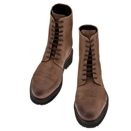 Suede brown boots 2