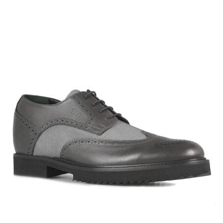 Grey brogue man shoes 1