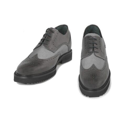 Grey brogue man shoes 2