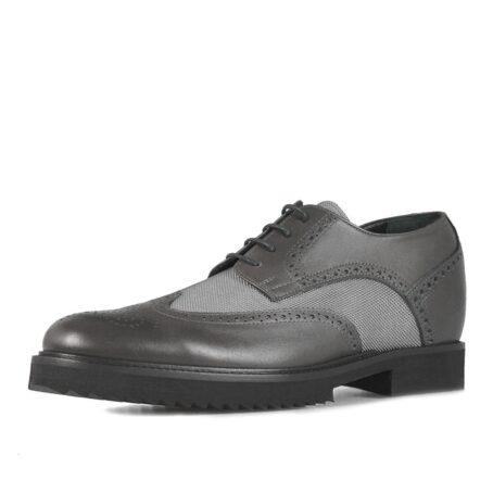Grey brogue man shoes 3