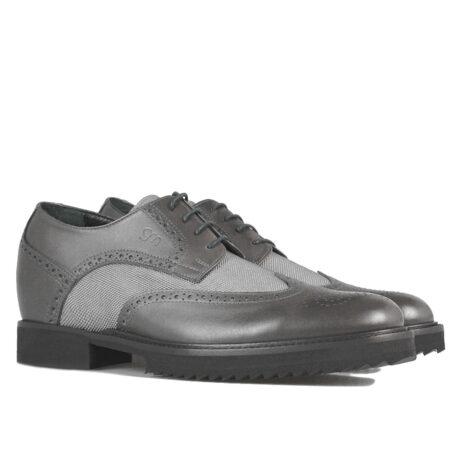 Grey brogue man shoes 5