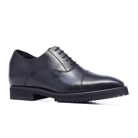 Black shiny oxford dress shoes 1