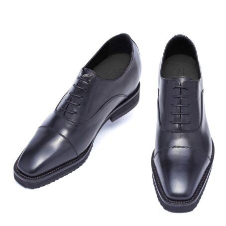 Black shiny oxford dress shoes 2