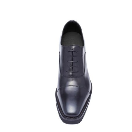 Black shiny oxford dress shoes 4