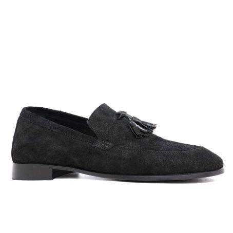 Tassel suede loafers 1