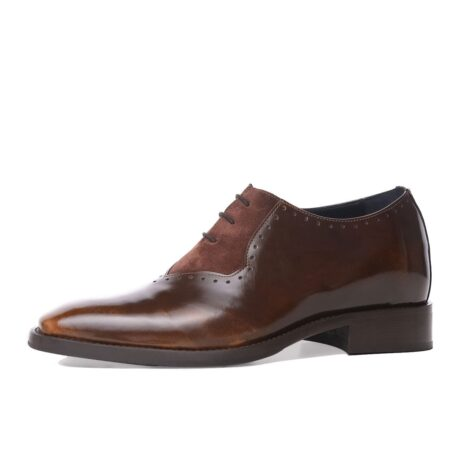 Patina and suede brogue oxford shoes 3
