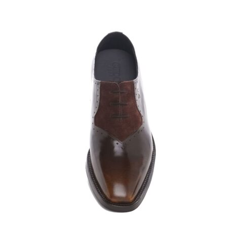 Patina and suede brogue oxford shoes 4