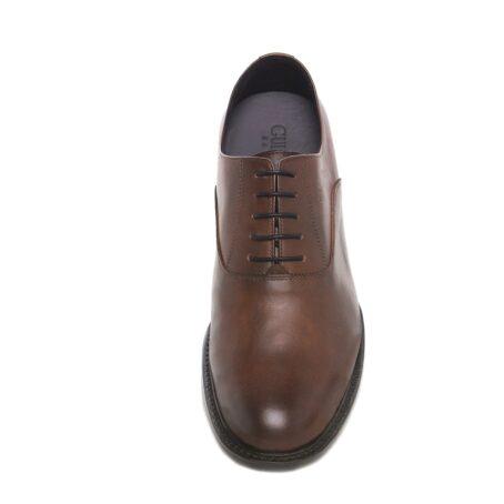 Elegant brown oxford dress shoes 4