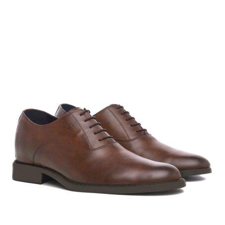 Elegant brown oxford dress shoes 5