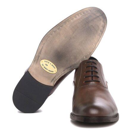 Elegant brown oxford dress shoes 6