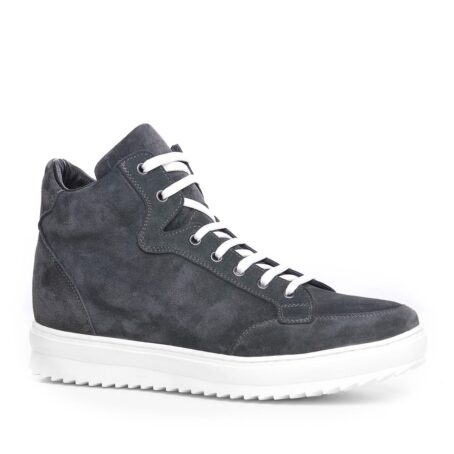 Grey suede sneakers for man 1