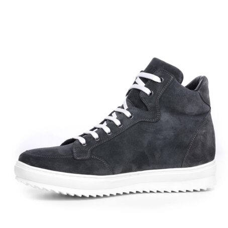 Grey suede sneakers for man 3