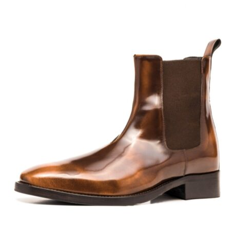 Patina patent brownl ankle boots 3