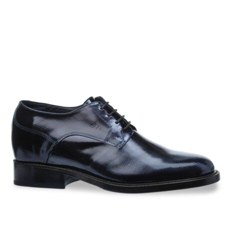 Textured leather shoes model derby 1