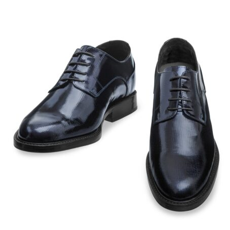 Textured leather shoes model derby 2