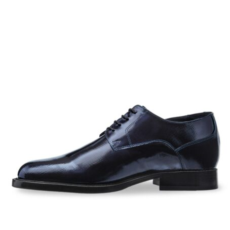 Textured leather shoes model derby 3