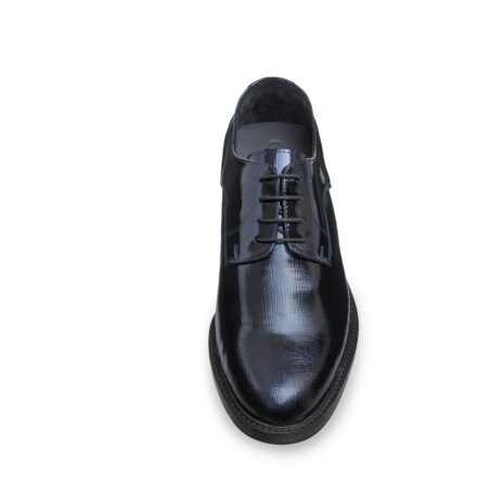 Textured leather shoes model derby 4