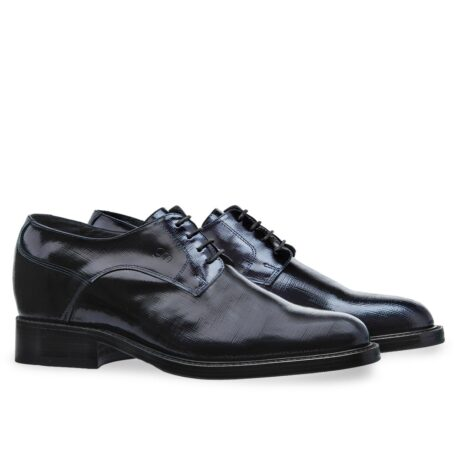 Textured leather shoes model derby 5