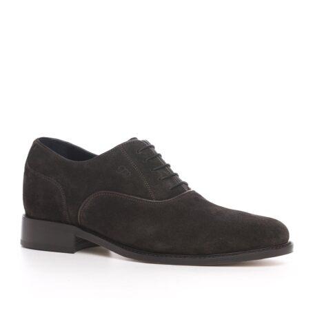 Dark brown suede oxford shoes 1