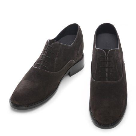 Dark brown suede oxford shoes 2