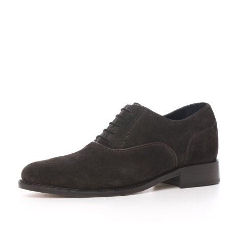 Dark brown suede oxford shoes 3