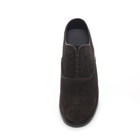 Dark brown suede oxford shoes 4