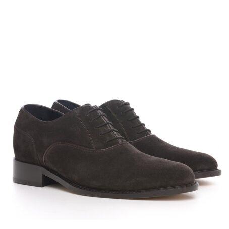 Dark brown suede oxford shoes 5