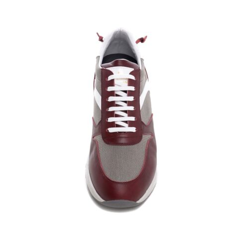 Bordeux and grey sneakers 4
