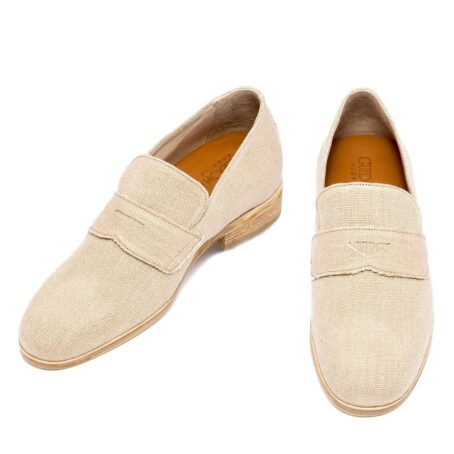 Cotton penny loafers for summer 2