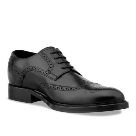Black wingtip brogue shoes 1