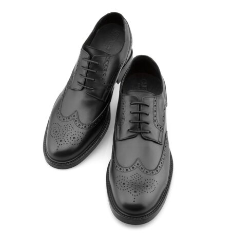 Black wingtip brogue shoes 2