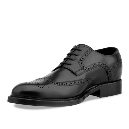 Black wingtip brogue shoes 3