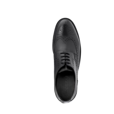 Black wingtip brogue shoes 4