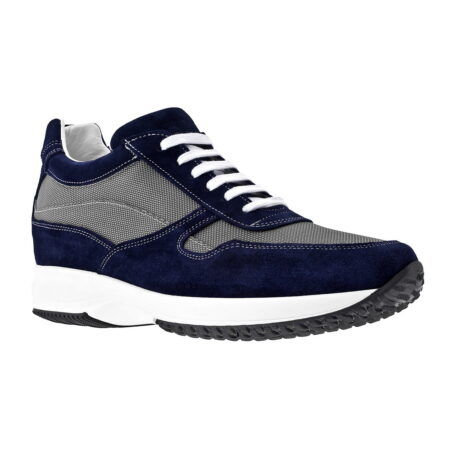 Blue and grey sneakers 1