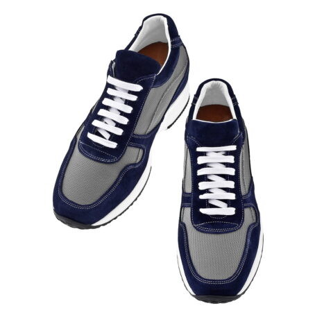 Blue and grey sneakers 2