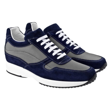 Blue and grey sneakers 5