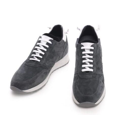 Grey suede sneakers 2