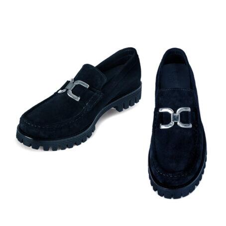 Black suede horsbit loafers 2