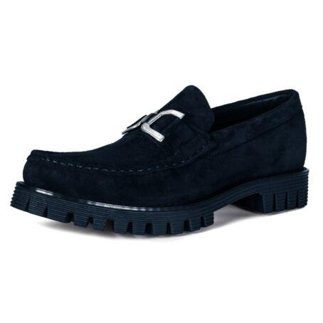 Black suede horsbit loafers 3